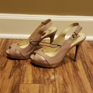 Guess peptoe sling back high heel shoes